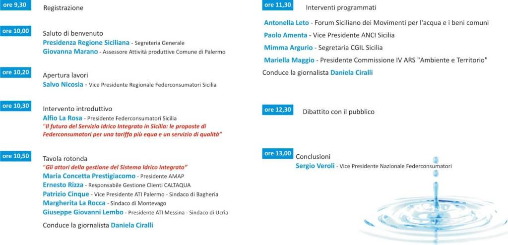 federconsumatori sicilia programma convegno acqua pubblica palermo